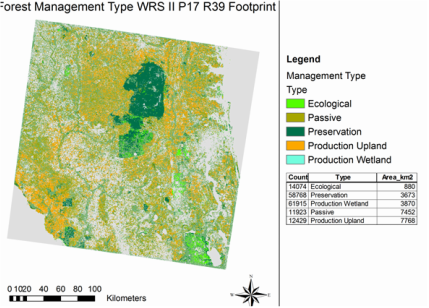 Preliminary forest management map for north central Florida